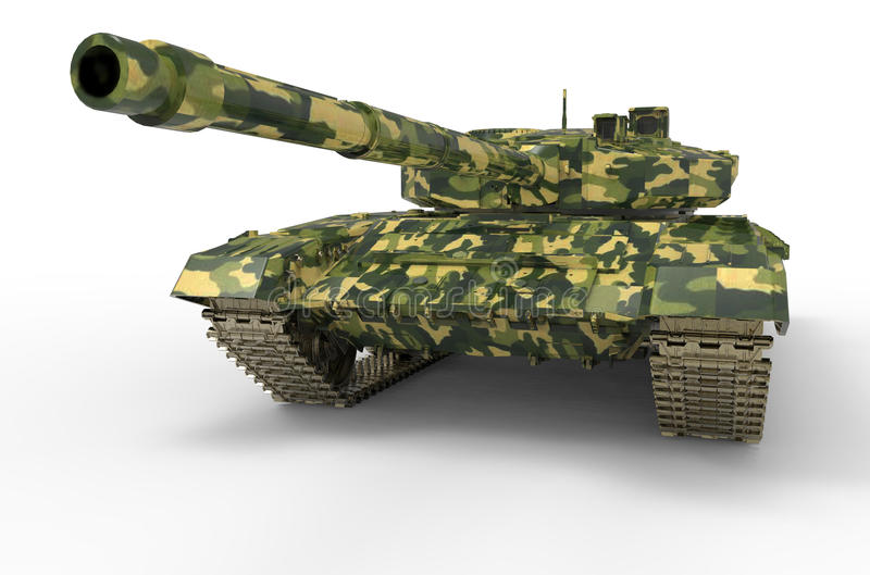 Russian Tank near isolated royalty free illustration