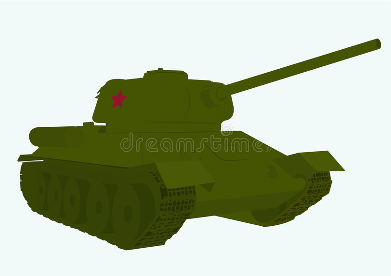 Russian tank T 34 stock illustration