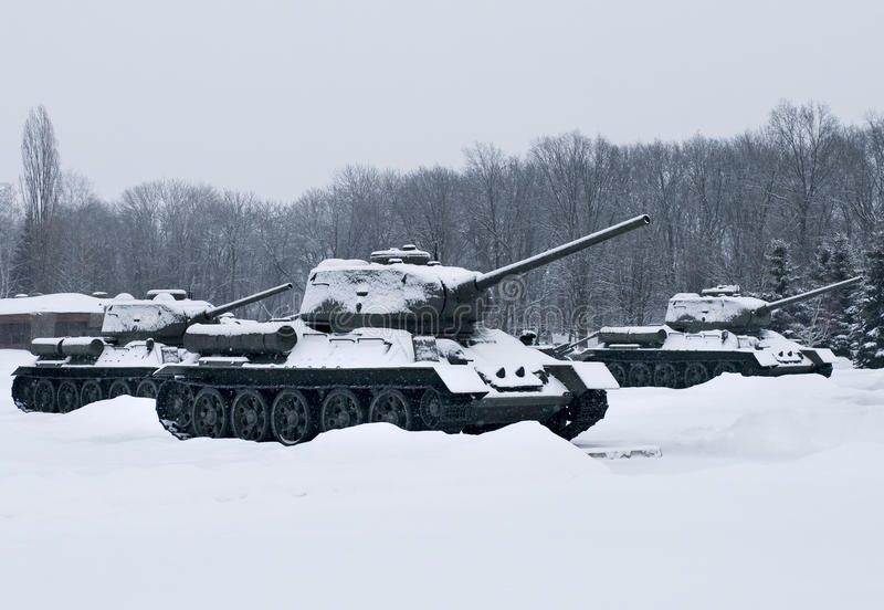 Russian  Tanks Royalty Free Stock Images