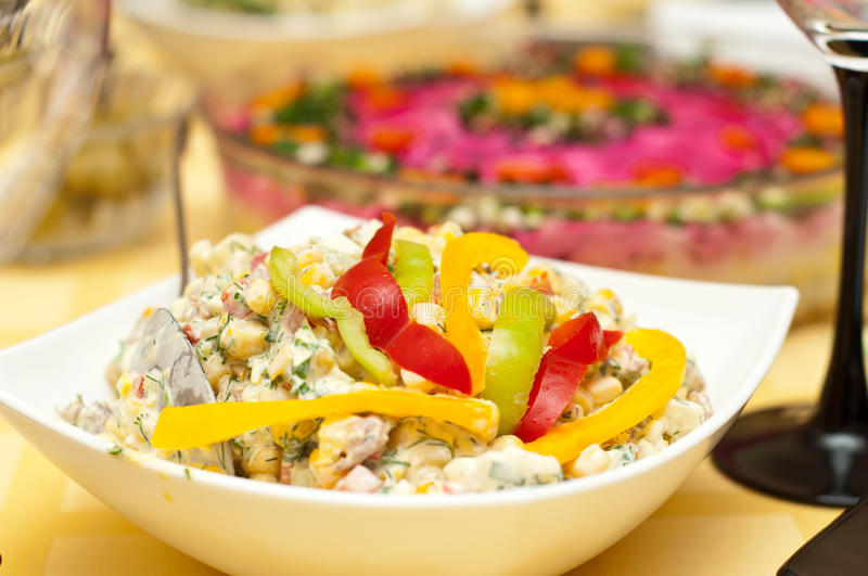 Russian Traditional Salad Olivier Stock Images