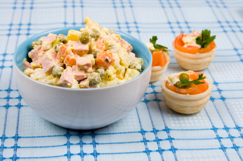 Download Russian Traditional Salad Olivier Stock Image - Image of prepared, plate: 23875123
