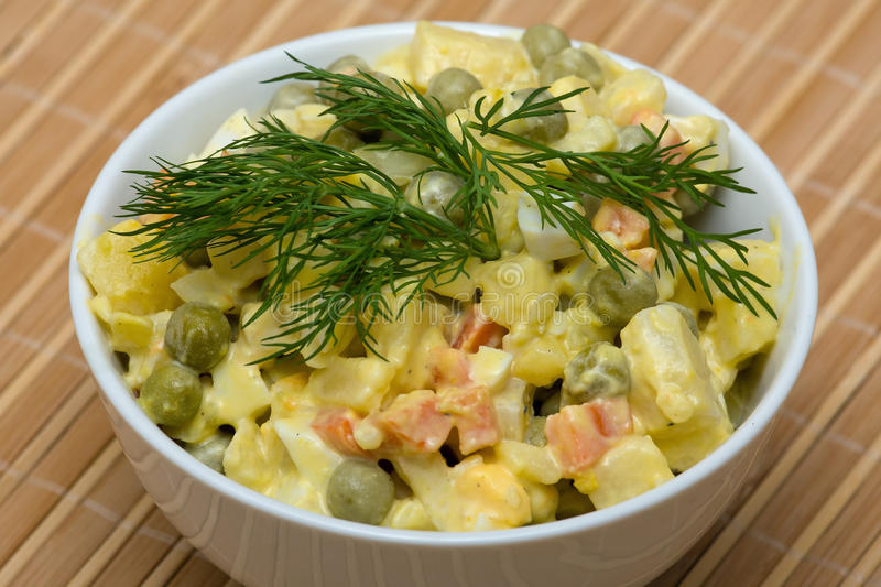 Download Russian Traditional Salad Under The Name Olivier Stock Image - Image: 26882803