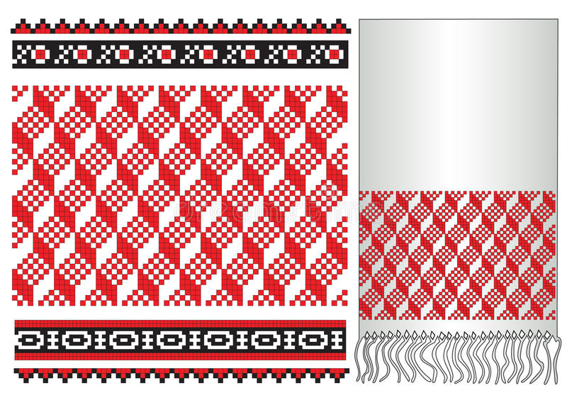 Russian ukrainian folk embroider pattern stock illustration