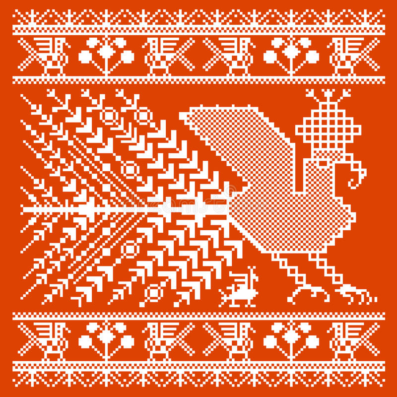 Russian and ukrainian folk embroidery, patterns. Vector illustration royalty free illustration