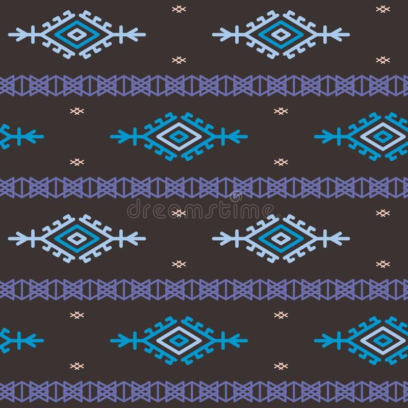 Russian, ukrainian and scandinavian national knit pattern, seamless vector illustration royalty free illustration