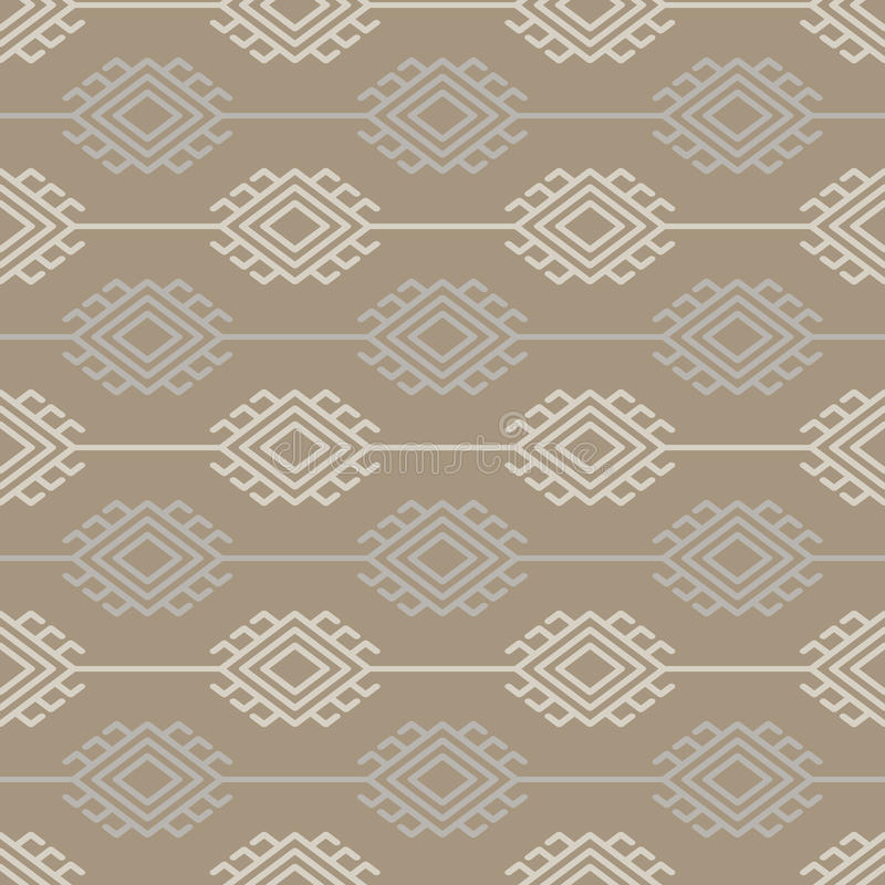 Russian, ukrainian and scandinavian national knit styled pattern. Pastel colors vector illustration