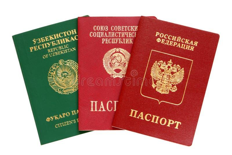 Download Russian, Uzbekistan And Old USSR Passports Stock Photo - Image: 22045562