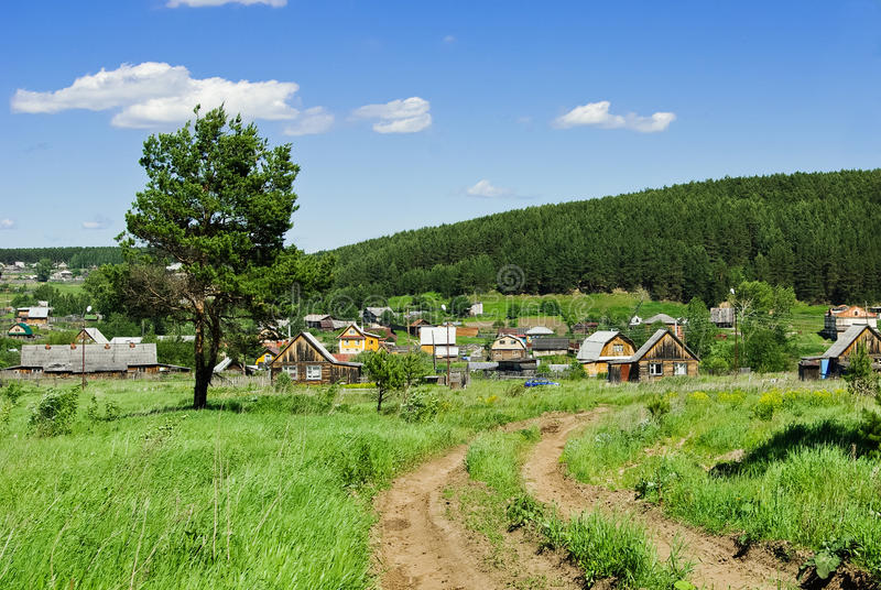 Download Russian village outskirts stock image. Image of nature - 16404739