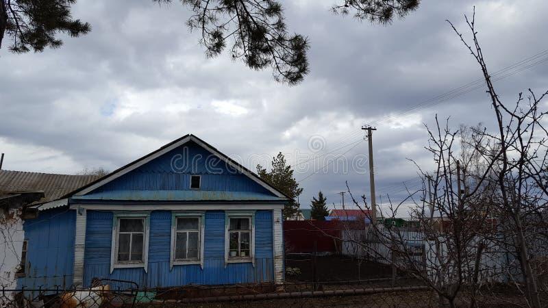 Russian village stock image