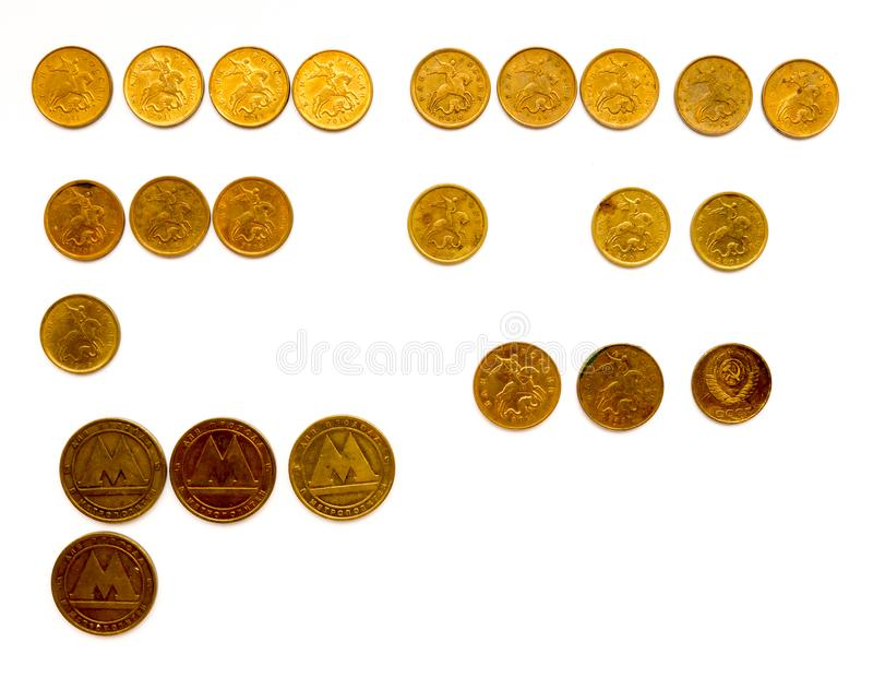 The Russian coins. royalty free stock images