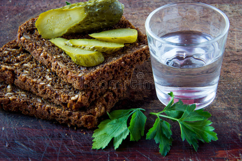 Download Russian vodka stock image. Image of snack, small, pickled - 28830721