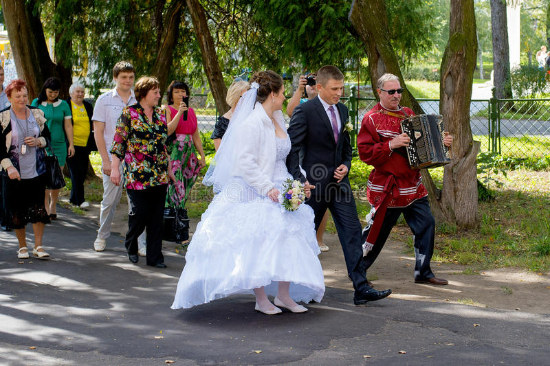 Russian wedding traditions royalty free stock photography