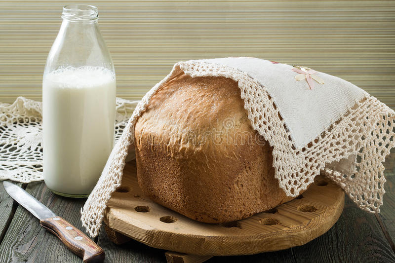 Russian wholegrain wheat bread stock photography