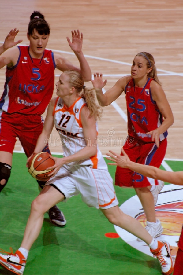 Russian women basketball royalty free stock photography