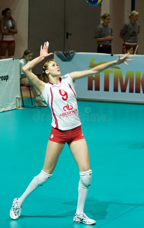 Russian women volleyball stock image