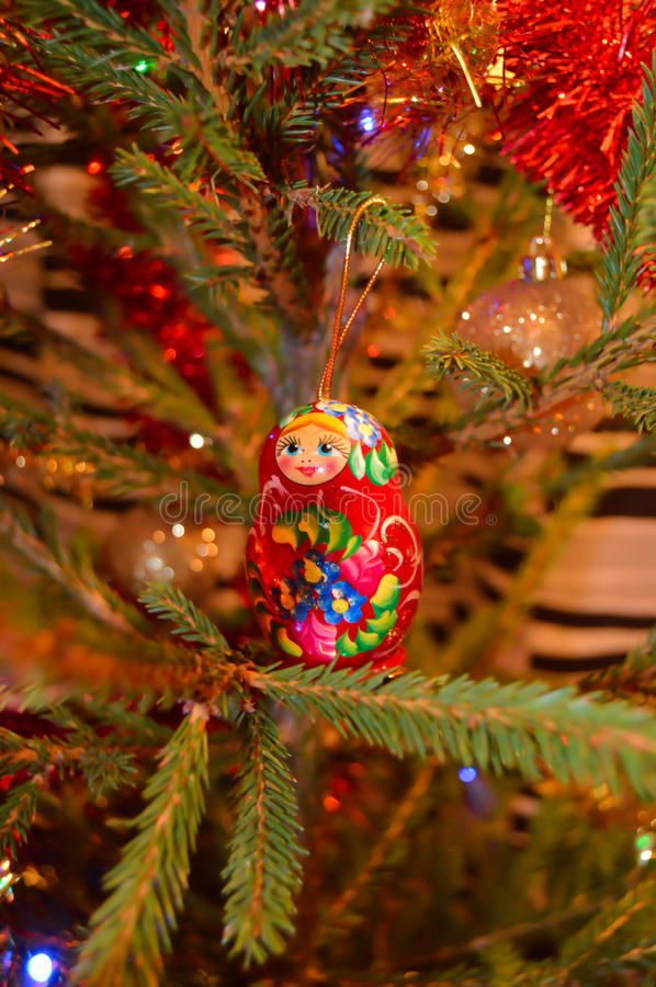 Russian wood doll royalty free stock photography