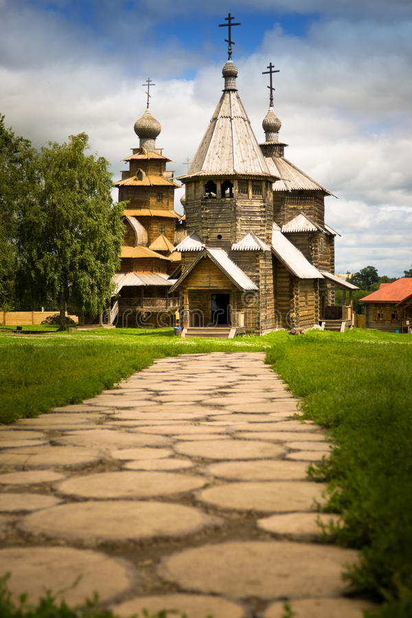 Download Russian wooden church stock photo. Image of rural, ancient - 10196566