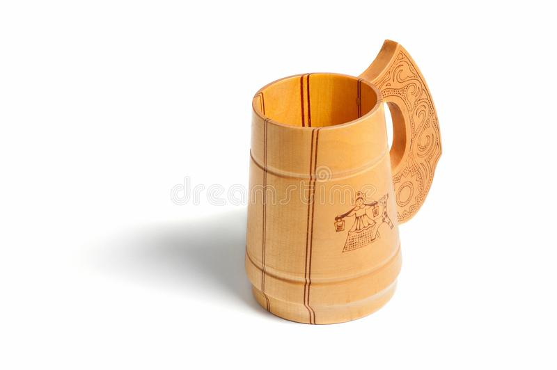 Russian wooden mug royalty free stock photo