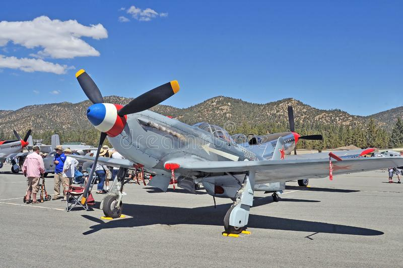 Russian World War II Fighter stock image