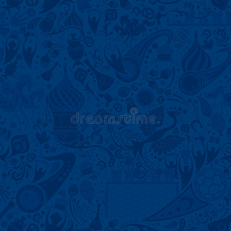 Russisch blauw naadloos patroon, vectorillustratie royalty-vrije illustratie