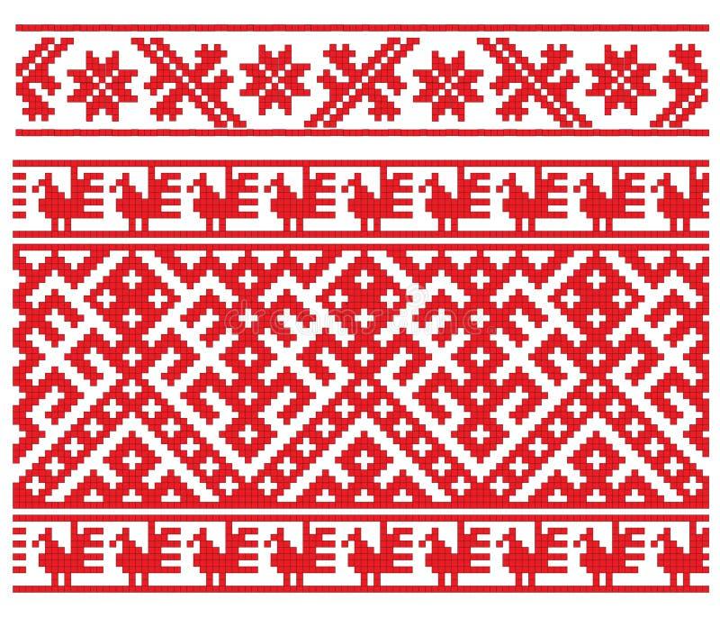 Russisch borduurwerk stock illustratie