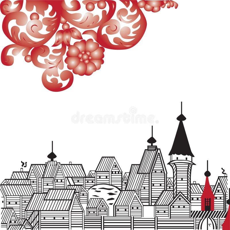 Russisch folklorebeeld vector illustratie