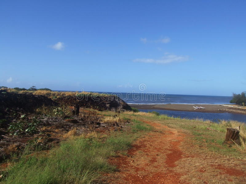Russisch Fort Elizabeth, Kauai, Hawaï stock foto