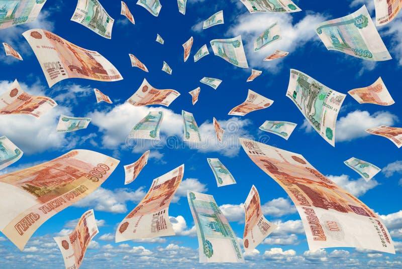 Russisch geld in de hemel. royalty-vrije stock foto
