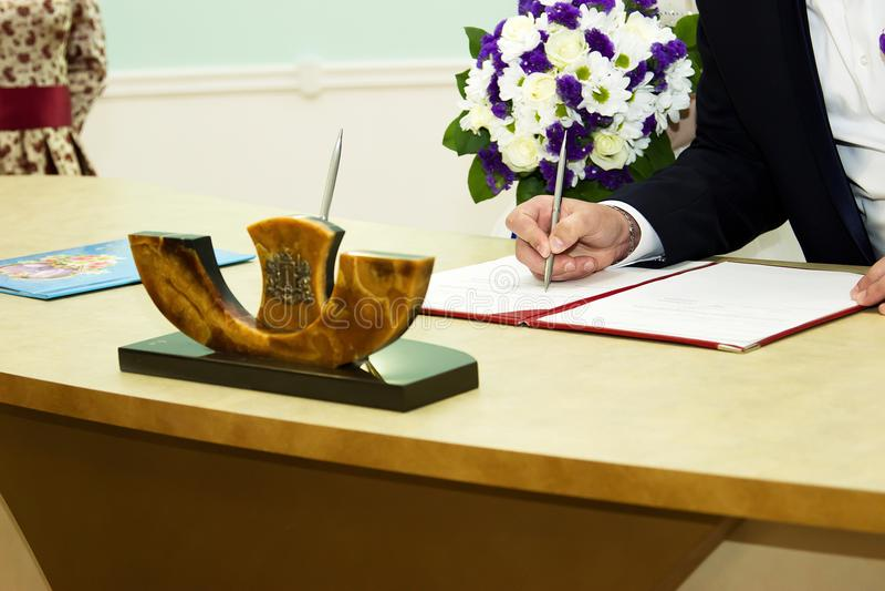 Russisch huwelijk stock foto
