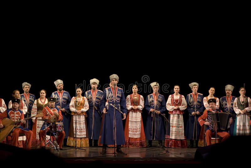 Russisch Koor royalty-vrije stock afbeelding