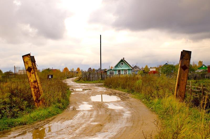 Russisch landelijk dorp. royalty-vrije stock foto's