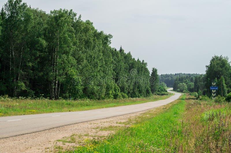Russisch landschap in het Kaluga-gebied stock afbeeldingen