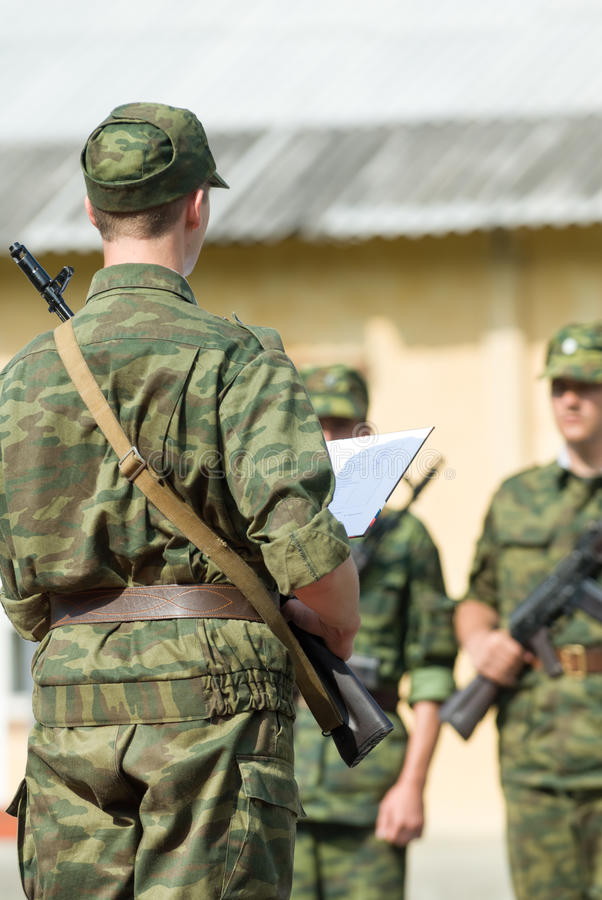 Russisch leger royalty-vrije stock foto's