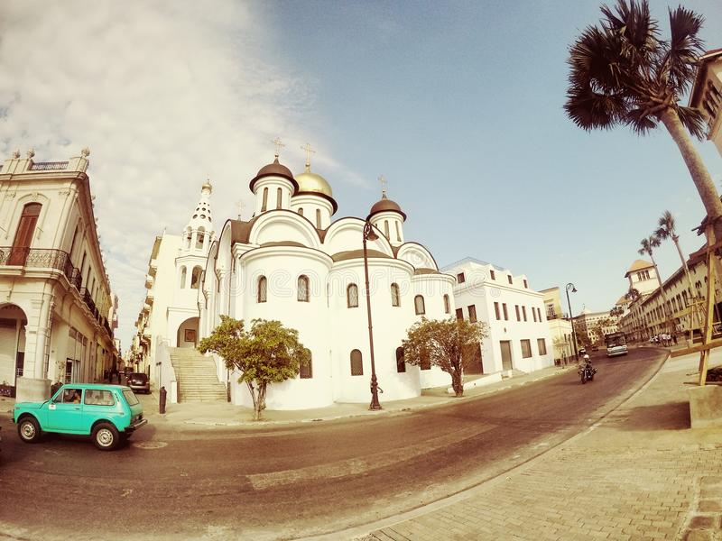 Russisch-Orthodoxe Kirche, alte Havana Cuba lizenzfreies stockbild