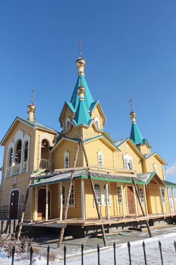 Russisch-Orthodoxe Kirche der Geburt Christi lizenzfreies stockbild