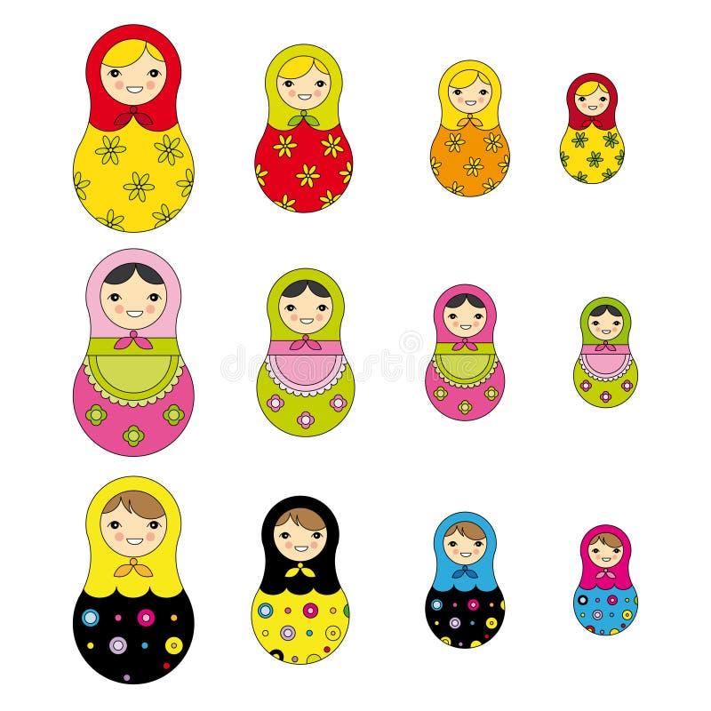 Russisch poppenpatroon royalty-vrije illustratie