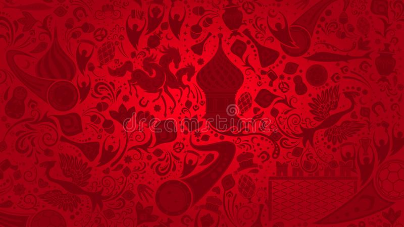 Russisch rood behang, vectorillustratie royalty-vrije illustratie
