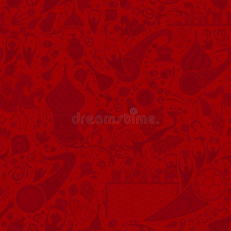 Russisch rood naadloos patroon, vectorillustratie royalty-vrije illustratie