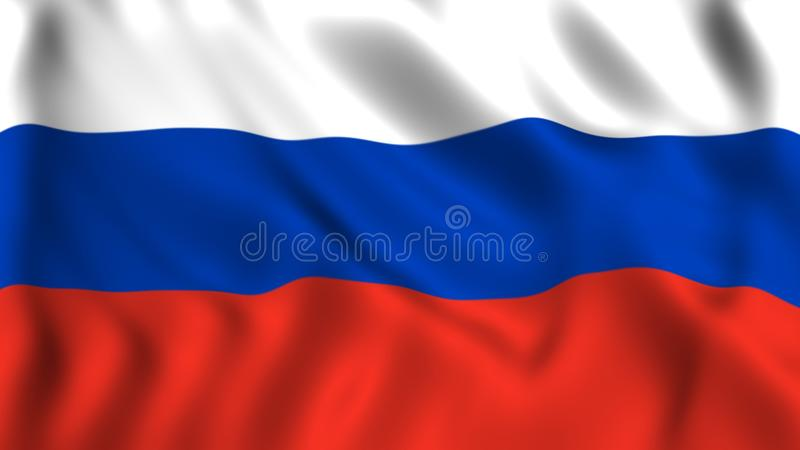 Russisch vlagsymbool van Rusland stock illustratie