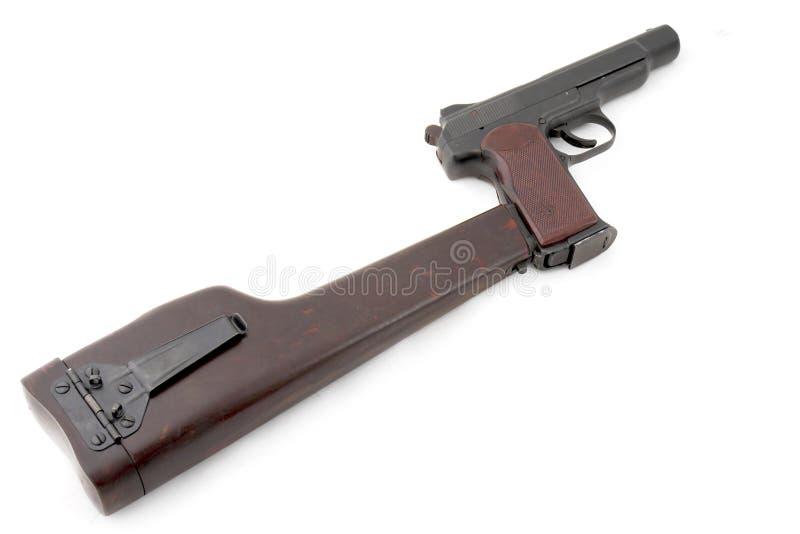 Russisch zwaar automatisch pistool royalty-vrije stock afbeeldingen
