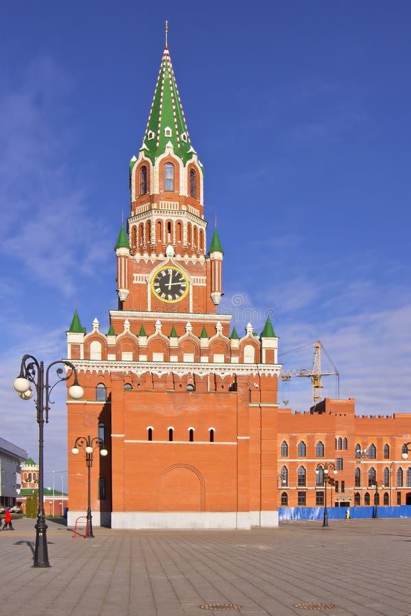 Russische architectuur en tradities Yoshkar-Ola Rusland stock afbeeldingen