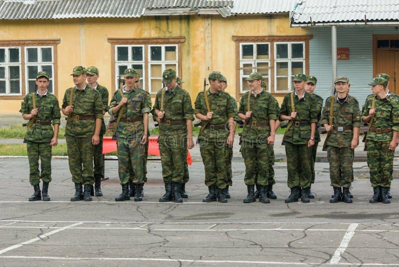 Russische Armeeszene stockbild