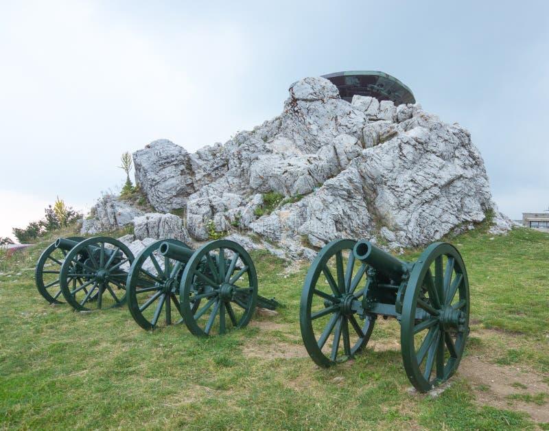Russische Artillerie in Bulgarien stockfotos