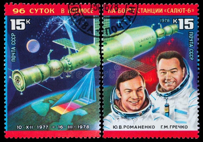 Russische astronauten royalty-vrije stock foto