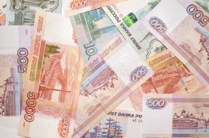 Russische bankbiljetten royalty-vrije stock foto