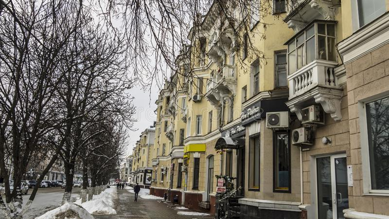 Russische Federatie, Belgorod-stad, Grazhdansky-Vooruitzicht 56 23 01 2019 royalty-vrije stock afbeeldingen