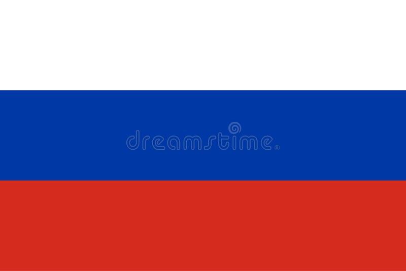 Russische Flagge Offizielle Farben Vektor stock abbildung