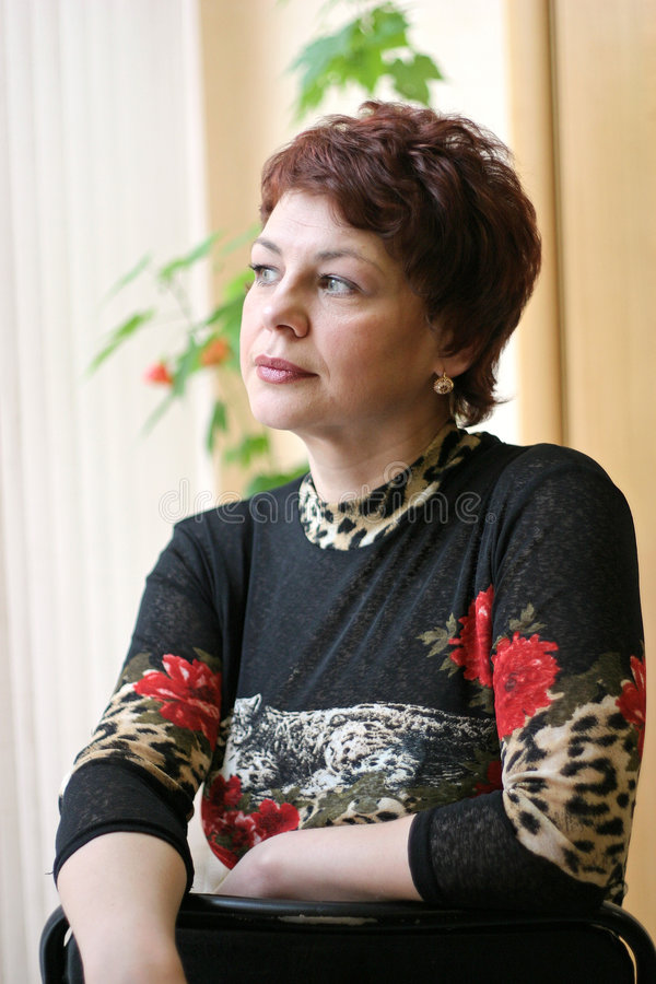 Russische Frau stockfotografie