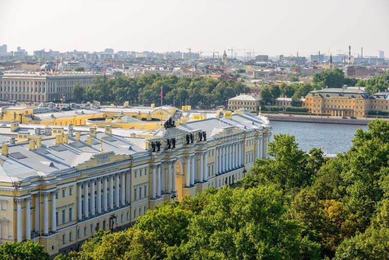 Russische Grondwettelijk hof en Voorzittersbibliotheek in St Peters royalty-vrije stock foto's