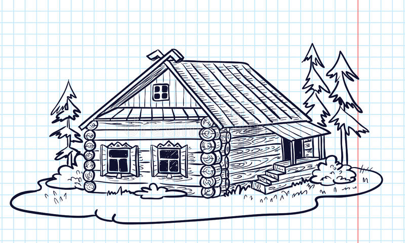 Russische Hütte vektor abbildung